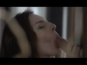 xxx SHADES - Russian dark haired babe in morning screw festival