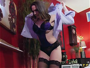 Married gal Chanel Preston gets titfucked and her slit smashing by thief