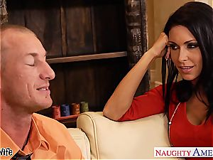 big-titted wife Jessica Jaymes pounding well