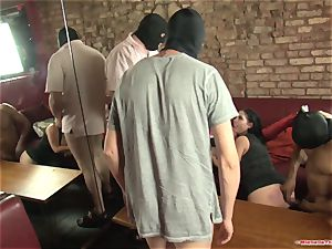 Michelle Thorne and youthfull mega-slut gang-fuck tear up with group