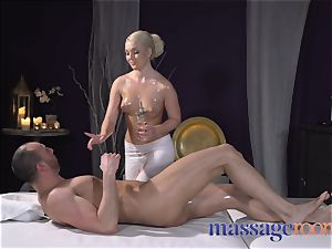 rubdown apartments lubricated firm freckled light-haired massagist