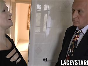 LACEYSTARR - Mature English stunner banged and facialized