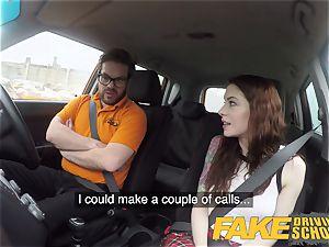 faux Driving school USA stunner Anna De Ville