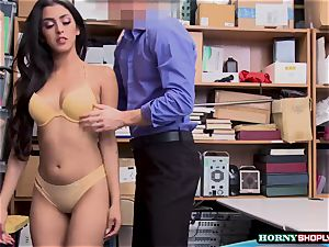 molten Latina Sophia Leone gets her twat drilled by officers immense rod so rock hard