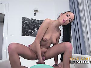 european stepdaughter Lexi seducing her dad in point of view