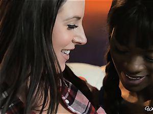 Ana Foxxx and Angela white luvs interracial sapphic activity
