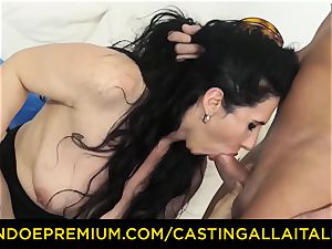 casting ALLA ITALIANA brown-haired nympho rough buttfuck fuck-a-thon