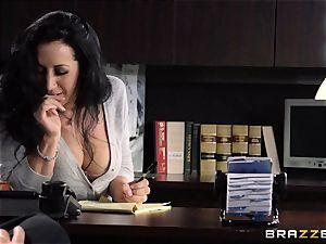 assistant Jayden Jaymes bangs on the bosses desk