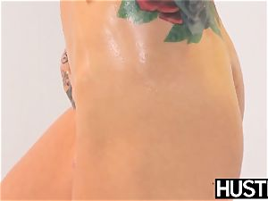 Ultimate blond Sarah Jessie submits to hefty big black cock