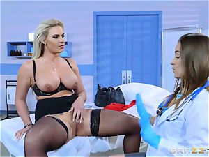 wild patient Phoenix Marie lesbo penetrate with Dani Daniels