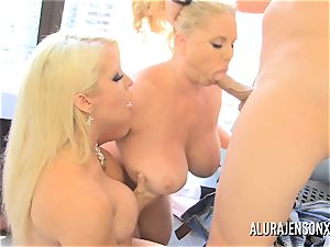 adult movie star Alura Jenson has a threeway with Karen Fisher
