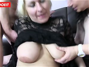 German foursome sex with mischievous plumper grandmothers
