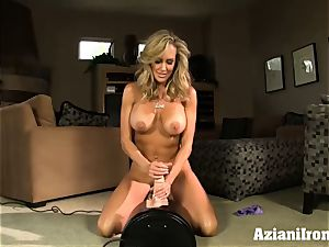 Brandi love rails the sybian naked