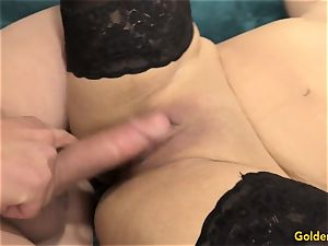 Mature Nadia Blue gets down to business