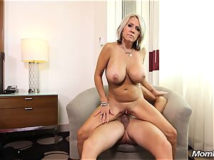 meaty knockers mummy gets rectal smash and facial cumshot