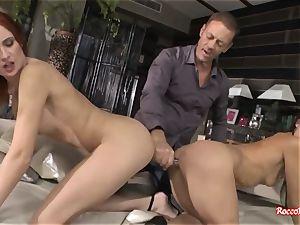 Rocco Siffredi Ravishes arses of 3 gals