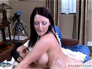 exclusive Sophie Dee painted white after sucking manstick