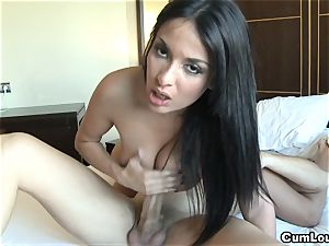 Anissa Kate jacks a bone with her phat boobies