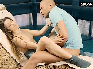 Nikita Jankovska being gobbled and anally fingered