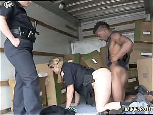 milf masturbation orgasm hd and hard-core group sex dark-hued suspect taken on a rough rail