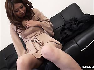 Solo act with a highly nice chinese babe who's jacking