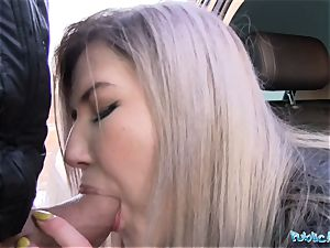 Public Agent cute Russian likes fucky-fucky for cash