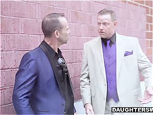 Pimp dads are checking what each other's daughter has to suggest