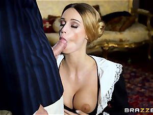 beautiful Maid Erica Fontes drills in her super-fucking-hot uniform