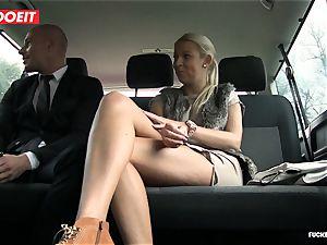 penetrated In Traffic - torrid Czech blonde screws in the car