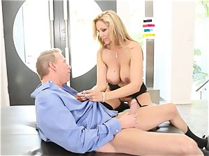 light-haired milf Julia Ann gets drilled in wondrous undergarments