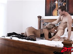 sub mummy Mercedes Carrera wedged with fat cock
