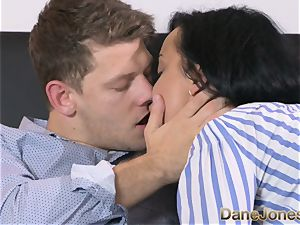 Dane Jones mischievous ebony haired Russian has internal ejaculation