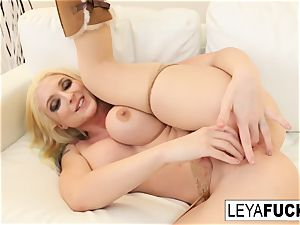 Leya feeds him her creampie