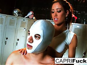 Xander wins the prize of Capri's tight labia