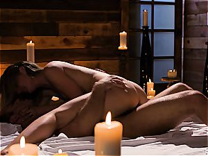 Mona Wales has a romantic enjoy session with her gorgeous stud
