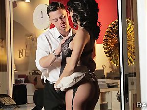 super-hot office sweetie Peta Jensen has hookup with her employees after work