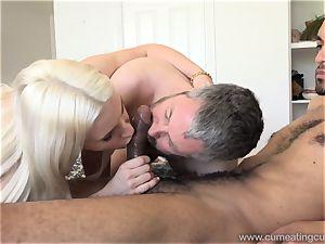 Niki Snow Makes husband inhale hefty black penis