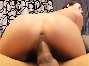wondrous chinese Alina Li rides a ginormous meatpipe