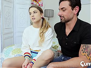 CUM4K Step father hump education bang with creampie