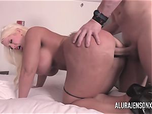 enormous funbag light-haired Alura Jenson plowing a jumpy customer