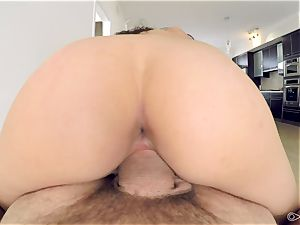 point of view - Kristina Bell hungers large chisel for her pussyhole