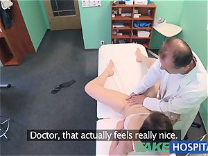 FakeHospital sexy Aussie tourist with big milk cans
