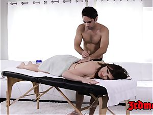 massage liking cougar Krissy gets her humid twat slammed
