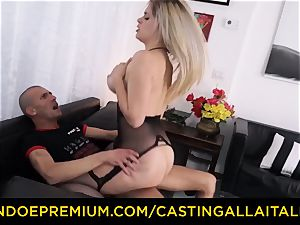 casting ALLA ITALIANA - huge-chested Italian light-haired rump humped
