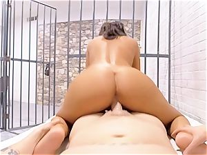 VR PORN-August Ames Get penetrated rock-hard in jail