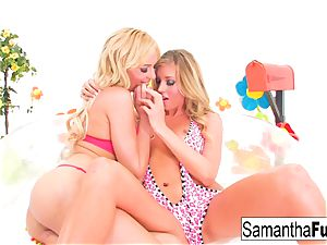 Samantha Saint and Victoria milky plow