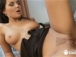 outstanding brunette Nataly pounded by hard spear