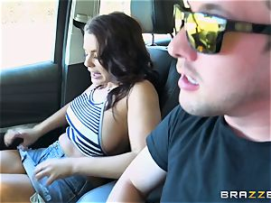 Keisha Grey getting plumbed throughout the car