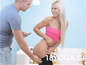 Lola Myluv In Yoga apparel Gets drilled And Creampied