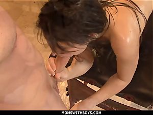 mummy Eva Karera greased And ready For rectal plumb